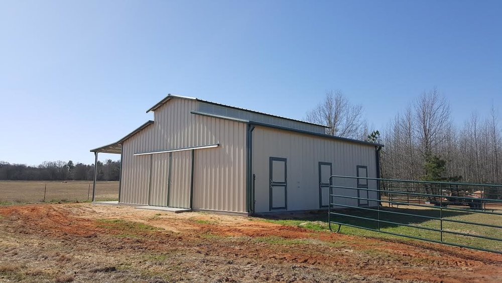 This project was done a little differently. The customer requested extra height for her barn.