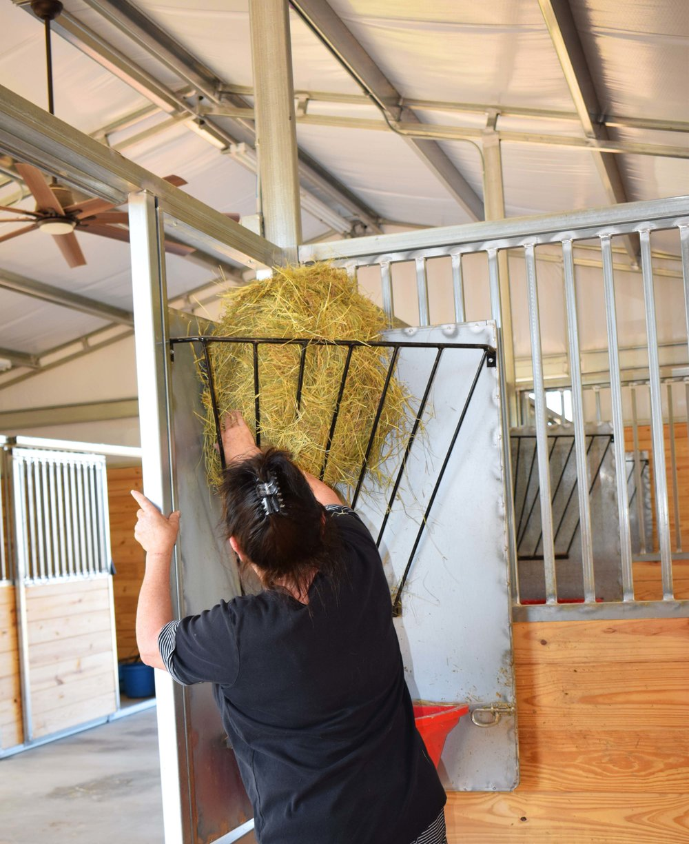 Swing-Out Stall Feeders