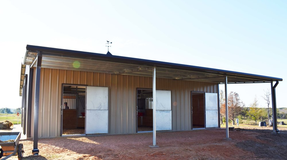 Individual Stall with Dutch Door Exits