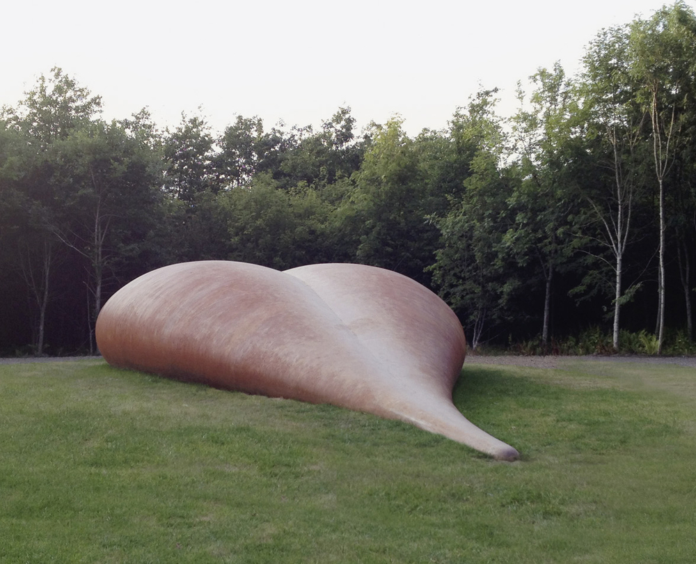 - LOVE AND KISSES 2012Cor-Ten Steel25 x 6 x 2.2m / 82 x 19.2 x 7.2ftAbbotshaugh Community Woodland, Falkirk, Scotland View Commission >
