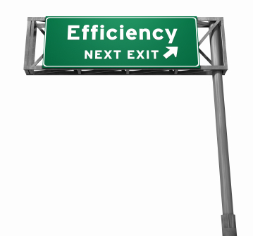 Efficiency Sign