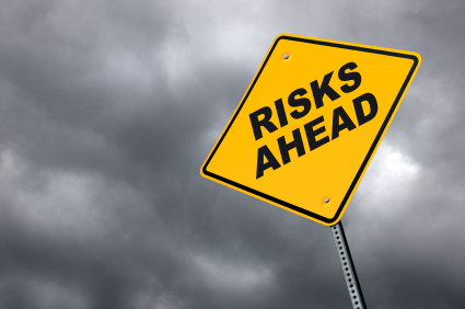 risks ahead sign