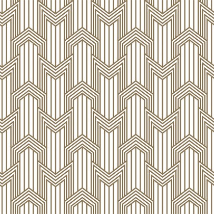 Decoro Geometria Ottone Bianco