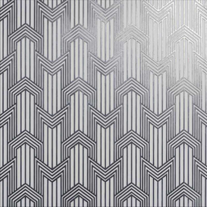 Decoro Geometria Silver Bianco