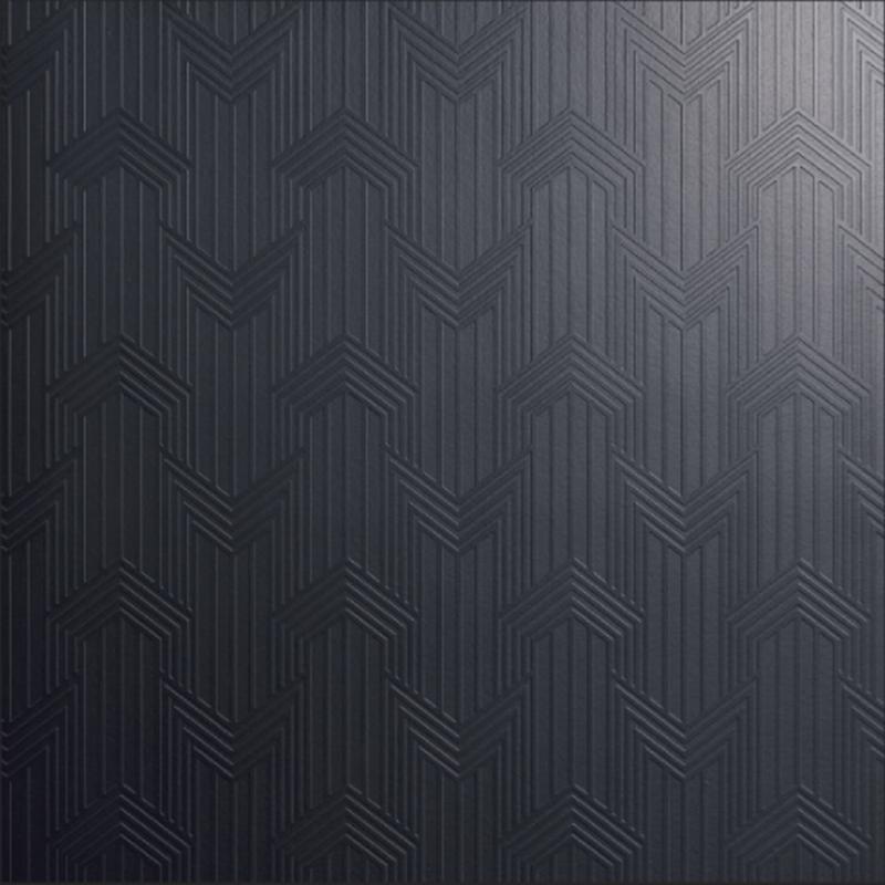 Decoro Geometria Nero Matte