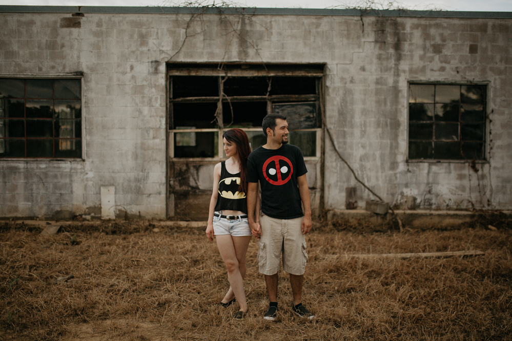 The Hatches | Memphis Tennessee Wedding Photographers | Skylar and Brian | memphis-tennessee-wedding-photographers-abandoned-auto-shop-romantic-lifestyle-unique-modern-posing-couples-engagement-inspiration