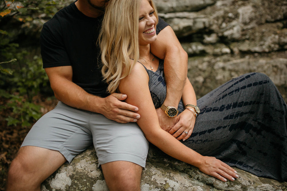 The Hatches | Petit Jean State Park | Waterfall Engagement Session | Destination Wedding Photographers | petit-jean-state-park-engagement-session-moody-romantic-unique-adventurous-wedding-photographer