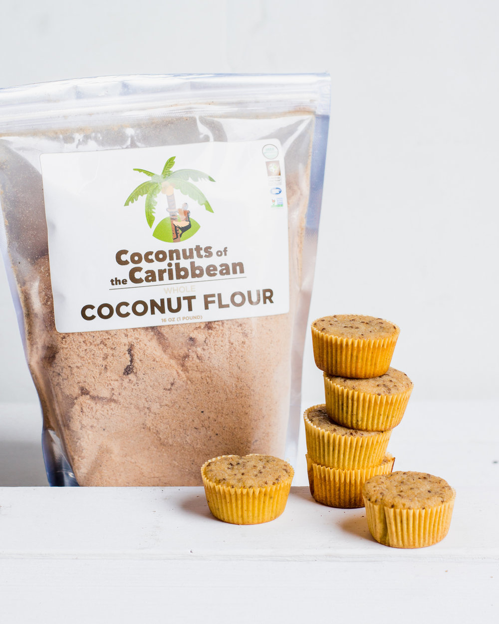 Healthy Lemon Chia Seed Muffins Made With Our Coconut Flour!