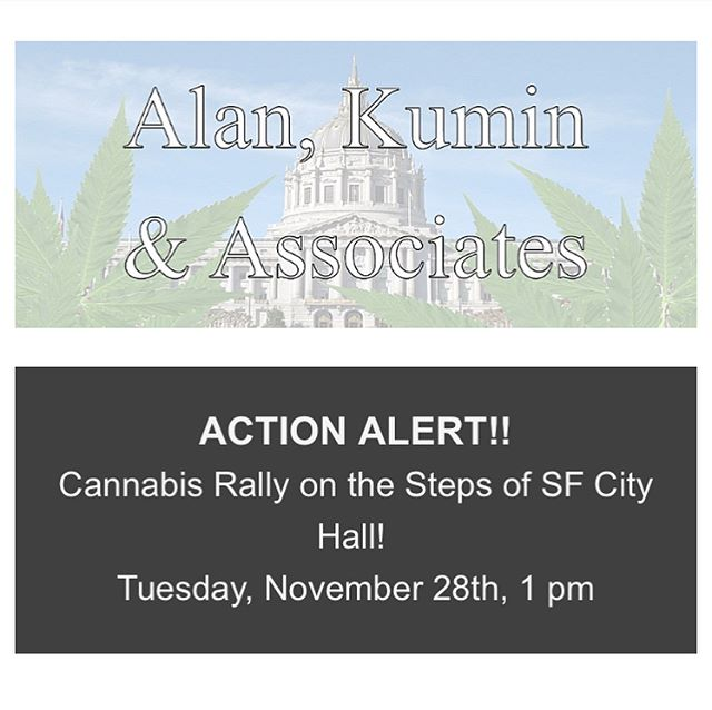 This Tuesday at 2 PM in City Hall, the San Francisco Board of Supervisors will cast their final vote on two cannabis ordinances. This meeting provides the supervisors with the opportunity to guarantee equity and access for the cannabis community, and to welcome the adult-use cannabis industry in a city that voted 73% in favor of Prop. 64.  We need to be visible and hold them accountable for their vote.  At 1 PM we will join Supervisor Jeff Sheehy on the steps of City Hall for a pro-cannabis rally.  Come out, make us visible, and show support for equitable, accessible and welcoming cannabis regulations. #EquityFirst #wearecannabis #sf #socialjustice #cannabiscommunity #endthewarondrugs #gogreen #sanfrancisco #cannabisindustry #prop64 #californiacannabis