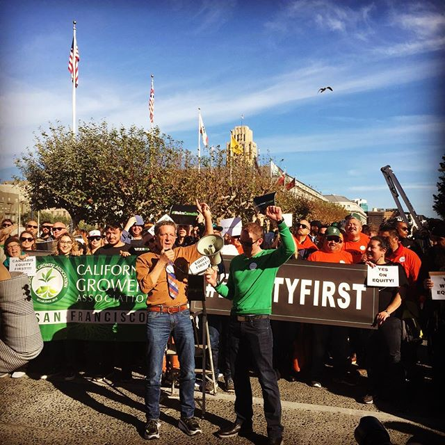 Terrance speaking at the #EquityFirst + #WEARECANNABIS Rally before the #SF Supervisors meeting.