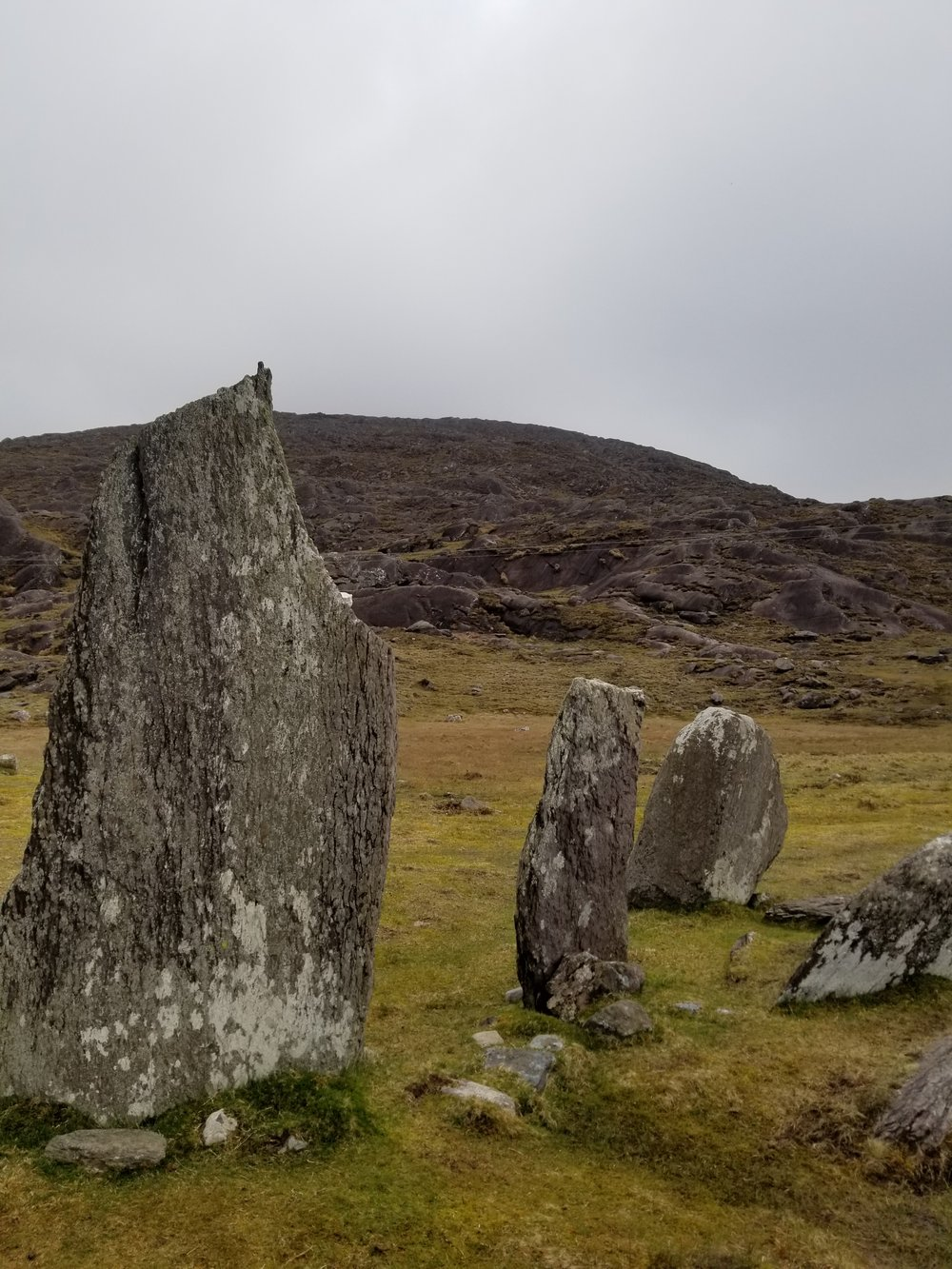 Stones and Bones - Ancient standing stones marking the boundary of this sacred space. Picture taken at Cashel Keelty, Co. Kerry, Ireland.
