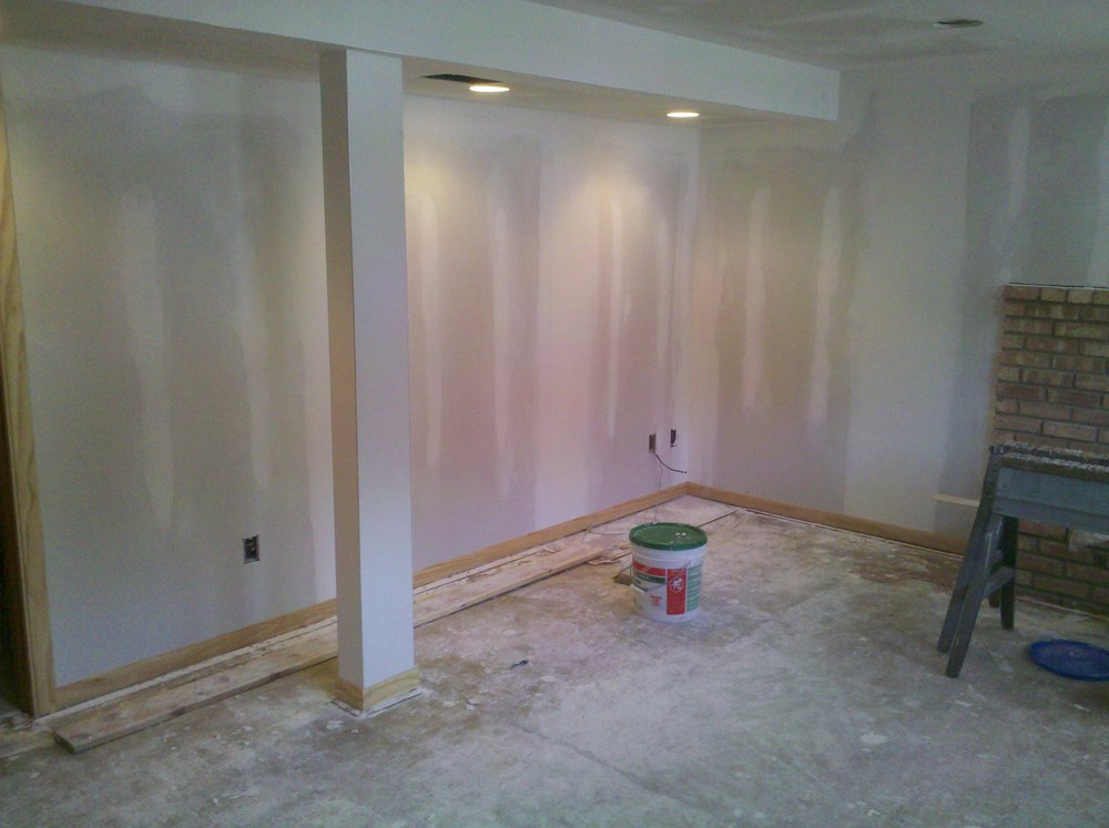 Drywall, lighting, flooring and more.
