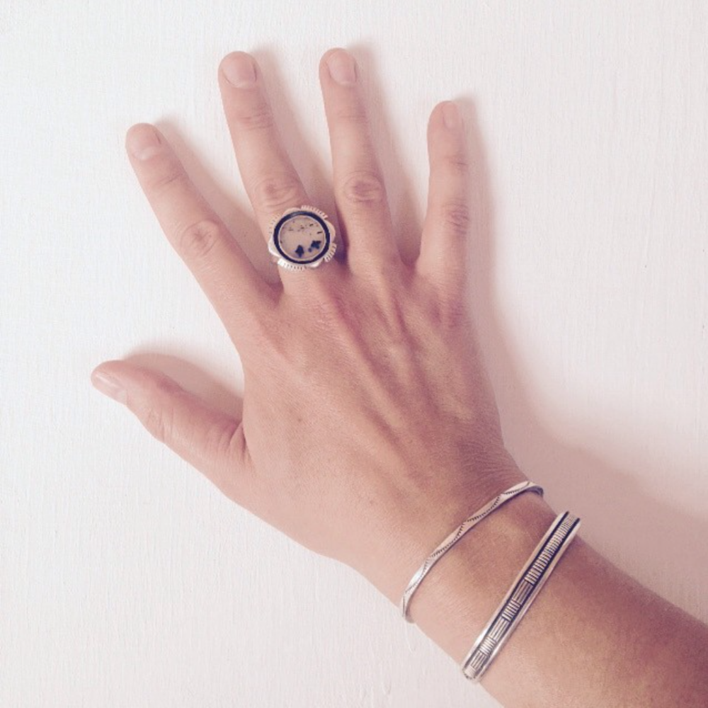 My Montana Agate Himiwari Ring