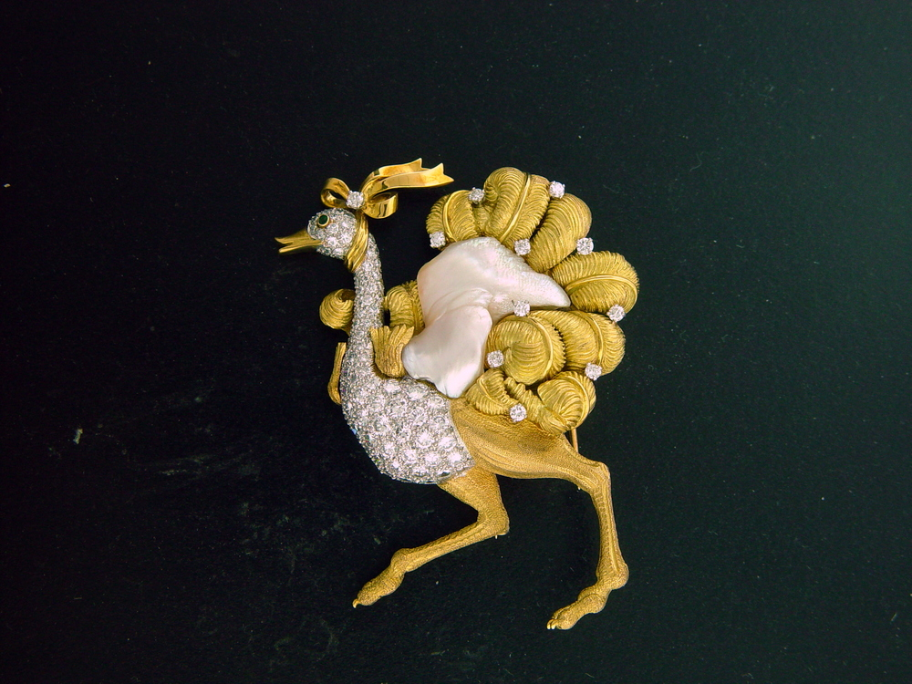 "Charles Vaillant - ""Ostrich"" Pin"