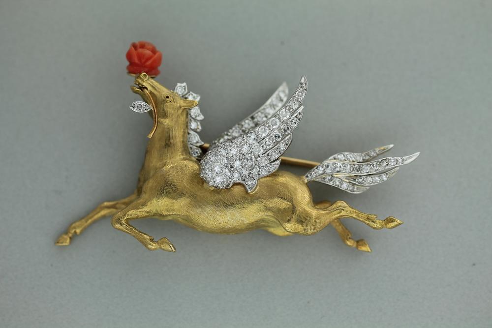 """Charles Vaillant - """"Pegasus"""" Brooch"""