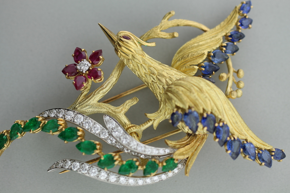 "Charles Vaillant - ""Bird of Paradise"" Brooch"