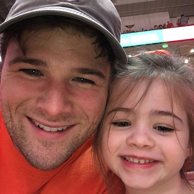 Last day before she turns 5!  Taking in a basketball game.  Go Tigers!  #tigerwellfans