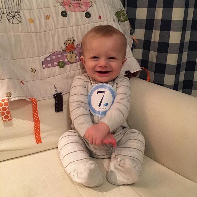 My Boy!  A couple of days late, but can't believe Tucker is 7 months old!  #tuckytoottoot