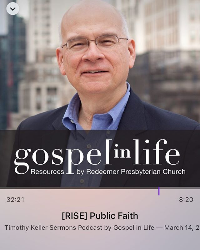 This sermon from Tim Keller was just what I needed and is worth 30 minutes of your time. Great inspiration and reminders on who Jesus is and how to tell others about Him!