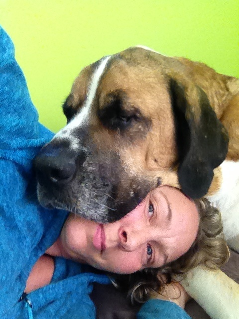 This was our last photo together.  He lay his head on him.  We will be together forever in spirit and soul.