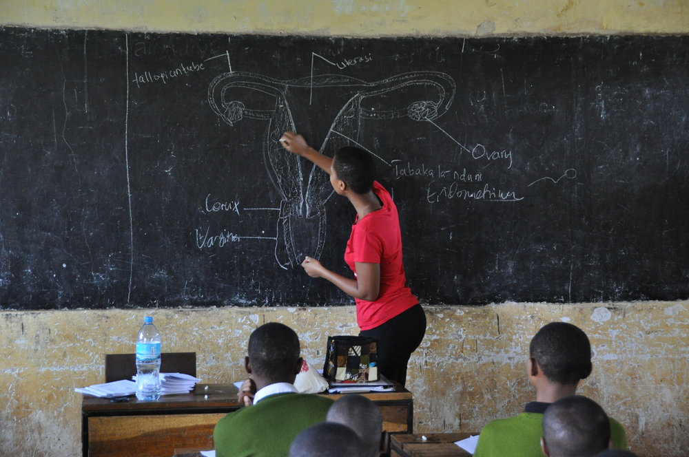 Femme International is our partner in Africa. They not only provide safe period care, but also menstrual health education so girls can make informed decisions about their bodies.