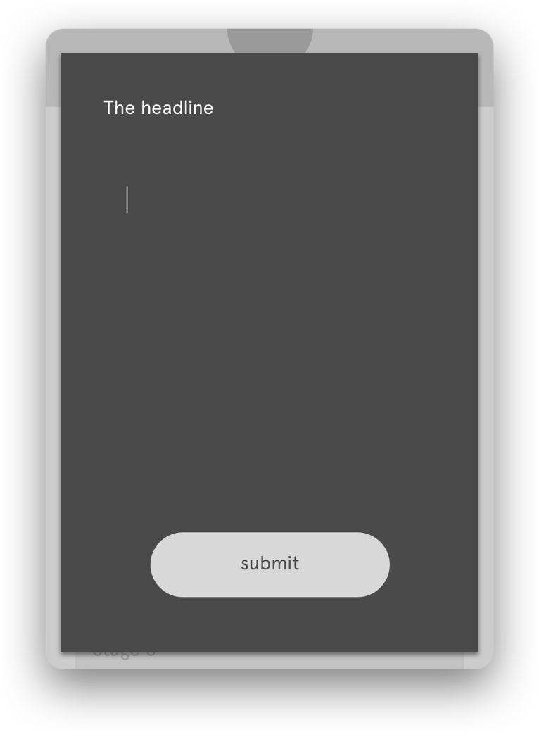 Edit headline Screen