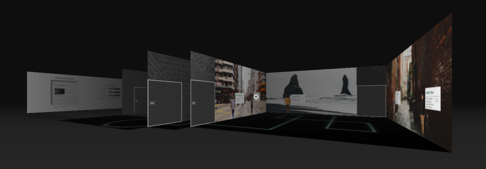 The interaction space of our final design