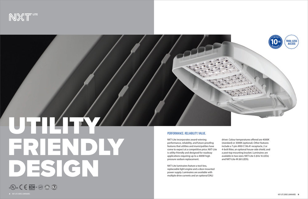 2017 PRODUCT CATALOG - NXT-LITE (DOUBLE PAGE SPREAD)