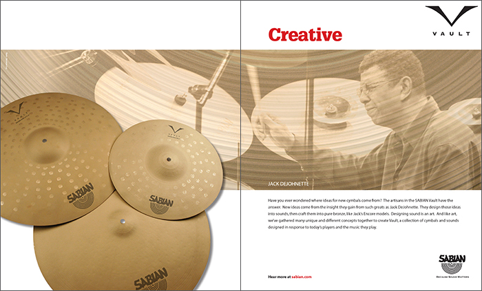 MODERN DRUMMER MAGAZINE - VAULT ADVERTISEMENT (DPS)