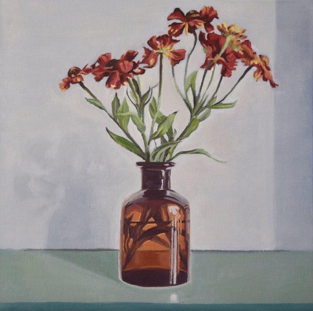 Still Life, Bottle Flowers