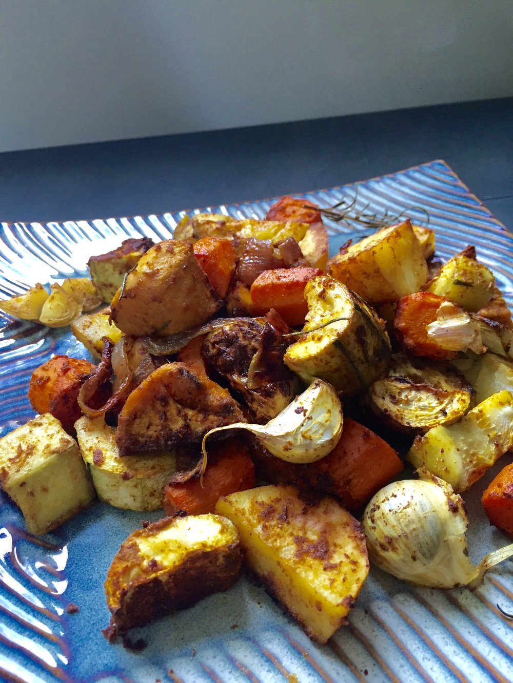 Roasted vegetables with Ayala's Magic Spice