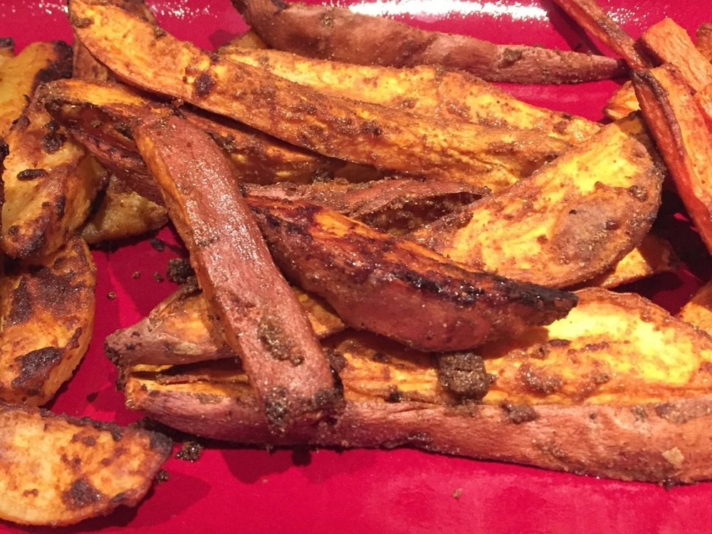 Roasted sweet potatoes WITH Ayala's Magic Spice