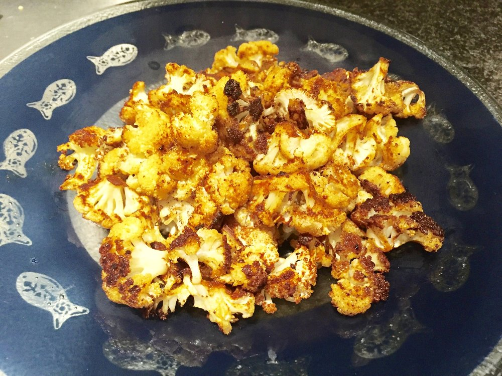 Delicious and super nutritious roasted cauliflower in minutes