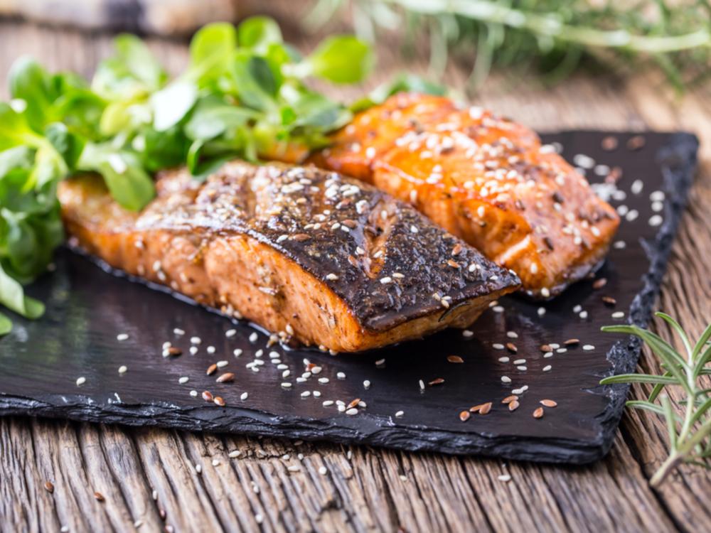 Salmon with Ayala's Magic Spice rub