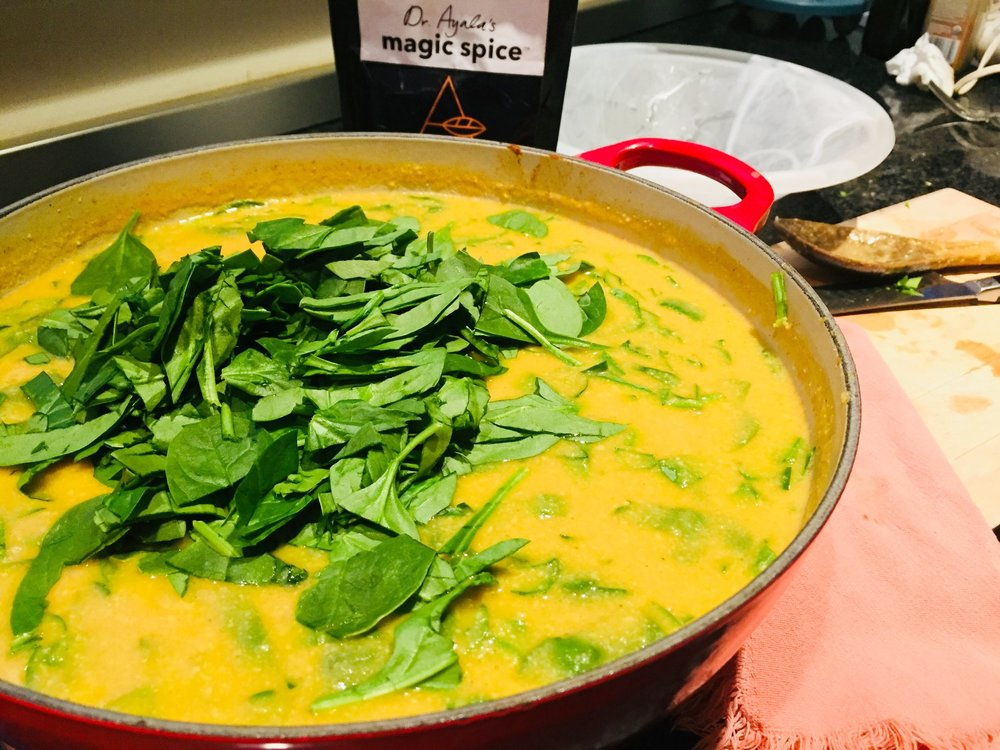 Golden Cauliflower and Cashew Soup with Dr. Ayala's Magic Spice
