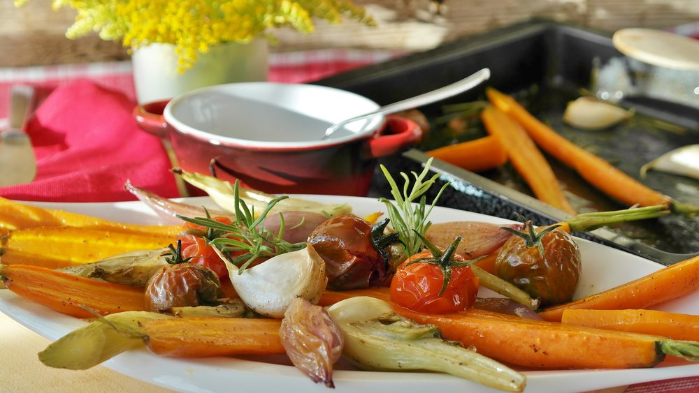 A fired up grill can also cook vegetables