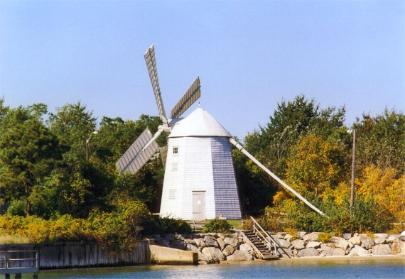 "SOURCE OF FOOD AND PHRASES —The 1791 Judah Baker Windmill has been moved three times and now sits—fully restored—at a scenic site at 89 River Street in South Yarmouth. Millers not only ground grain for locals, they coined many expressions we still use today, like ""daily grind"", ""nose to the grindstone,"" and ""put through the mill."" Those are just a few of the many you'll learn from the docents who lead tours of the mill."