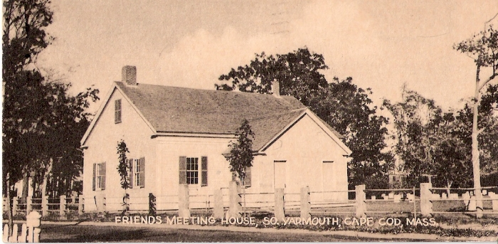 "AMONG FRIENDS—Yarmouth Friends Meeting was the second Meeting of that faith in America, established in 1659. The present ""new"" meetinghouse erected on half an acre donated by Friend David Killey in 1808 is over two centuries old and has a thriving membership today holding regular Sunday meetings. In the adjacent cemetery, with its small, modest gravestones, you'll meet costumed characters and hear the stories of those who lived and lie buried here."