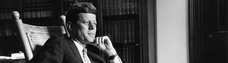 JFK 100: MILESTONES & MEMENTOS —A new exhibition commemorating the President's centenary featuring a compelling selection of items chronicling historic milestones in the President's career as well as the events of his personal and family life.