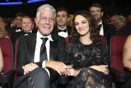 Anthony Bourdain and girlfriend Asia Argento. Asia Argento is an activist in the #MeToo movement who spoke out about sexual assault regarding Harvey Weinstein. The activist is now blamed for Anthony's suicide by misogynistic (and often anonymous) trolls online who try to silence her through online violence. An  open letter  has been written and signed by other celebrities to support her and condemn the targeted abuse. Image Source: AP