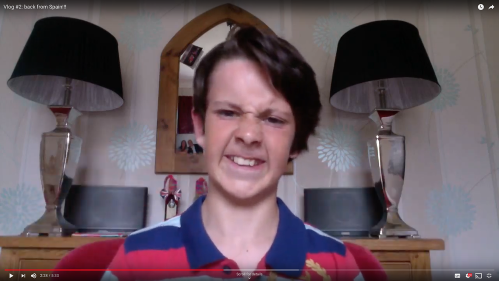 Alesha MacPhail's murderer, a few years before he raped and killed her, in a video on his own youtube channel. Photo: Youtube