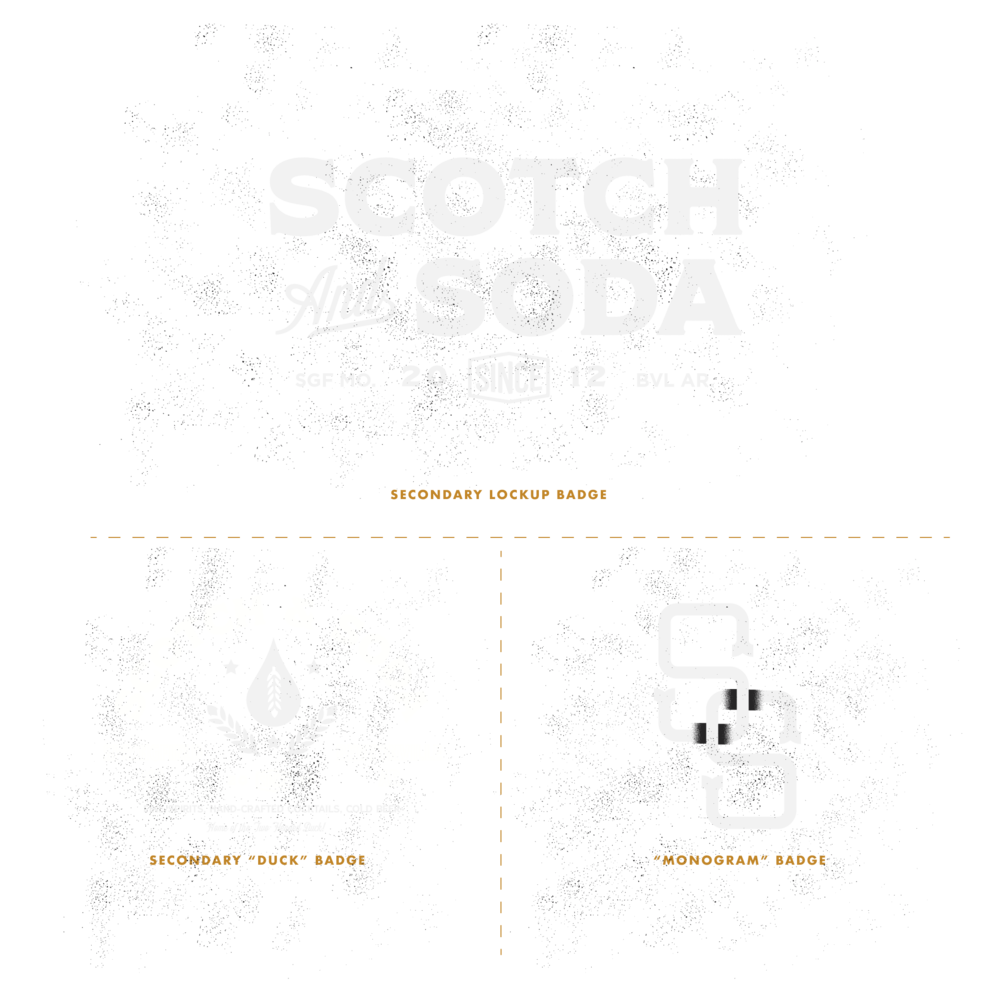 ONE MORE DRINK. - And when we say options, we mean it. The resulting responsive brand for Scotch & Soda gave the owners an opportunity to brand everything they touched in different, interesting ways.