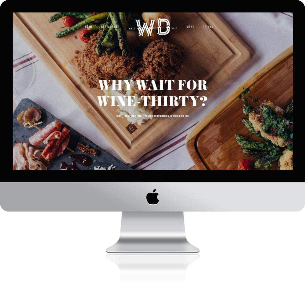 A DIGITAL POUR. - We created a fully-responsive website with the ability to easily and consistently update wine, cocktail and food menus. Using beautiful food and location photography, the online home for the Wine Dive pulls you in and makes you thirsty for that happy hour cocktail.