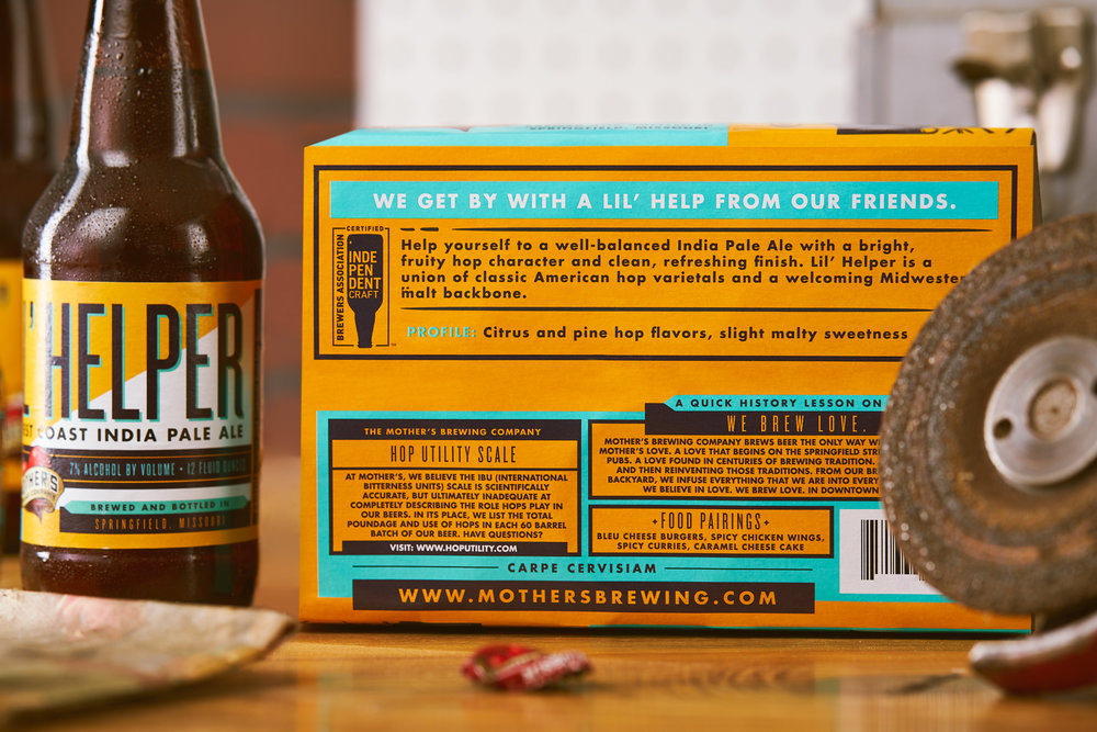 BOTTOMS UP. - Education is key for Mother's — and each beer has a new lesson. The bottom of every 6 pack is customized with information on the recipe builds, tasting notes and food pairings.