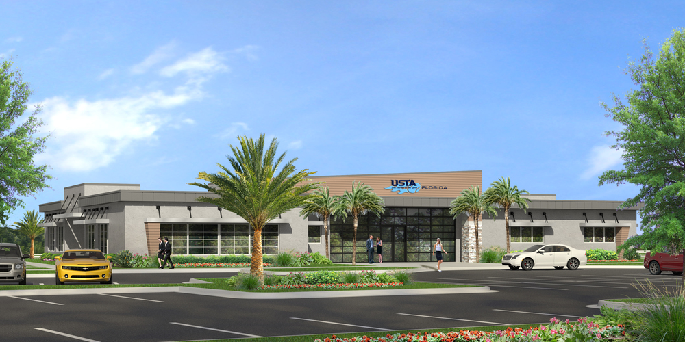 USTA-Florida Section's new Headquarters in the Lake Nona Sports & Performance District (Credit: USTA-FL)