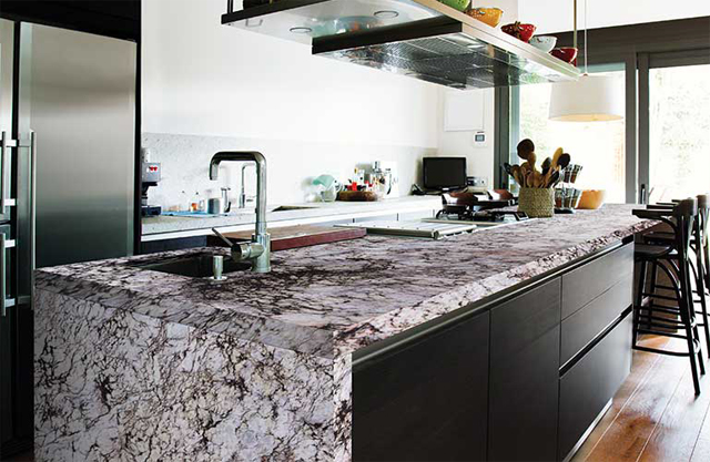 """Granite in a non-white kitchen (for CandysDirt.com commenter """"JT"""")"""