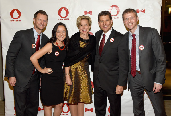 (L-R) Blood:Water Board Chair Stuart McWhorter, Jena Lee Nardella, Ambassador-at-Large Deborah L. Birx, Board Member Scott Morris, and Board Member Porter Delaney