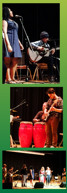 PVPA student performers (Matthew King on congas)