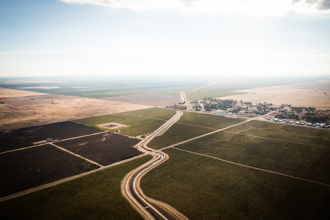 An irrigation canal in Clovis, California. Max Whittaker for The New York Times