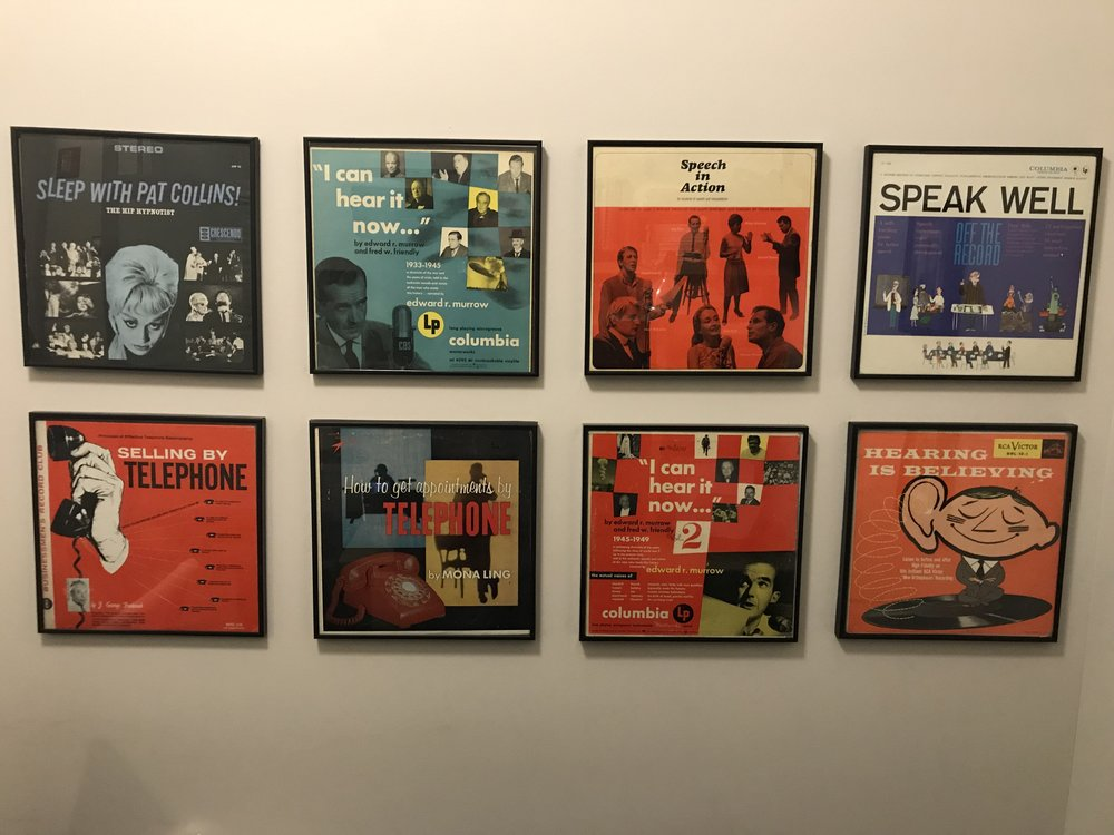 Records on my wall in my office